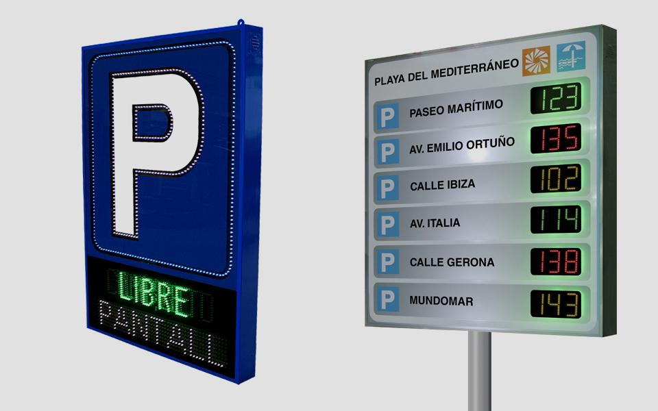 Pantallas Parking